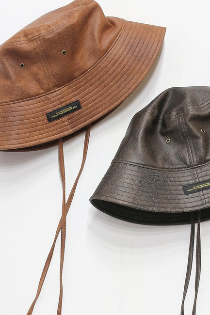 SEMI SUEDE BUCKET HAT