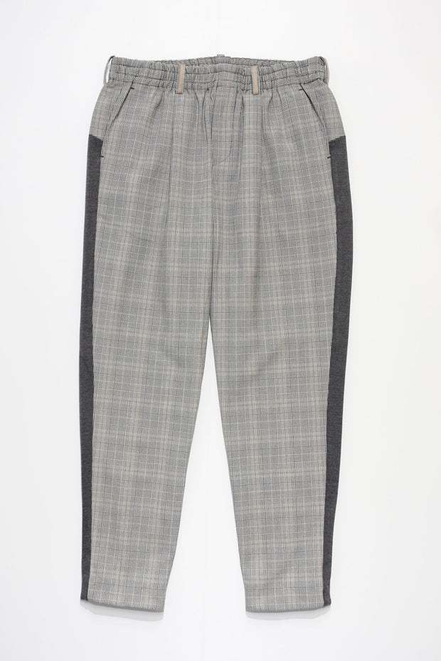 Glencheck Wide Tapered Slacks
