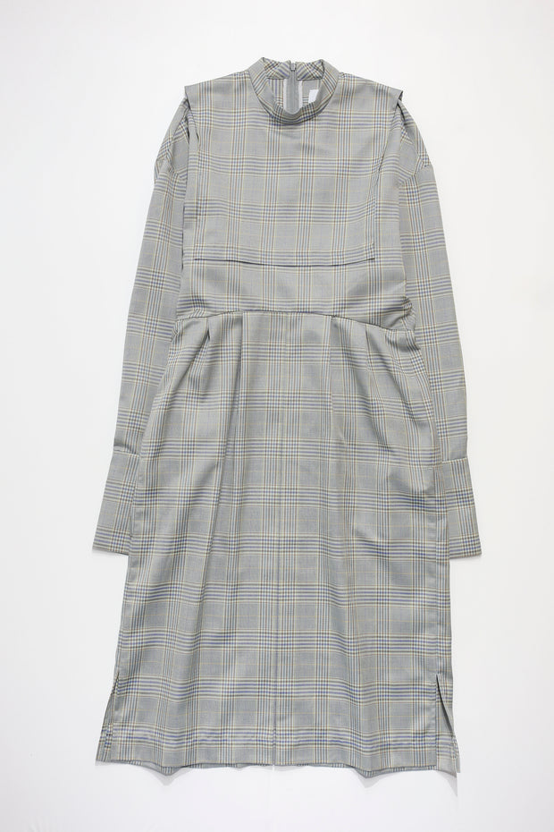 Sailor Collar Check Dress