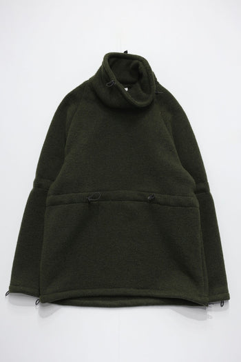 ADJUSTMENT HIGH NECK WOOL JERSEY KNIT