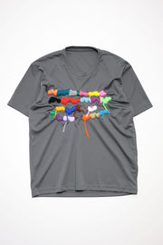 Embroidery T-Shirt  Gray
