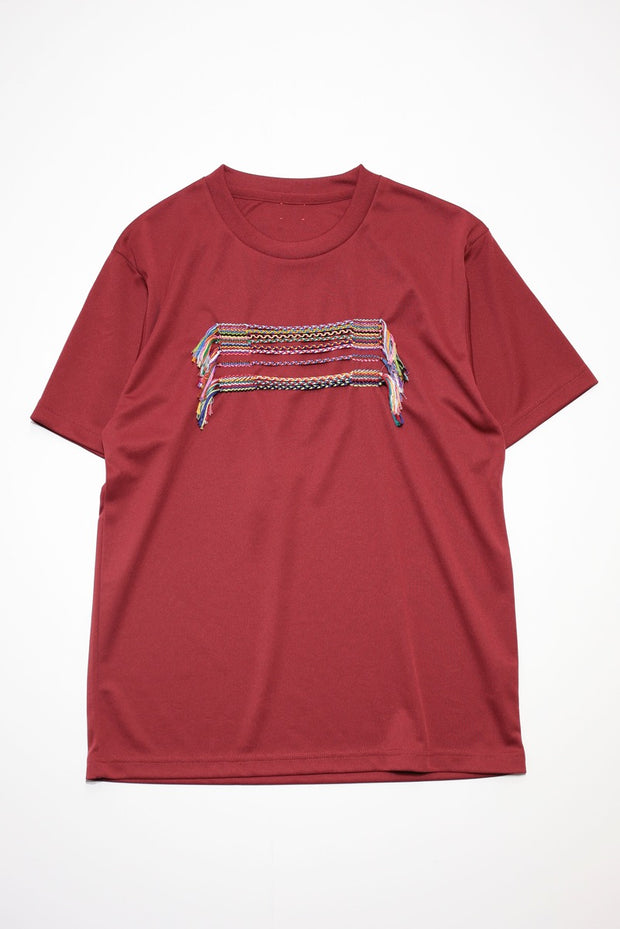 Embroidery T-Shirt  Burgundy2