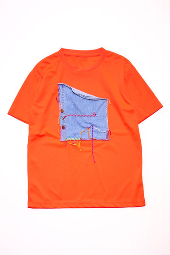 Embroidery T-Shirt  Orange