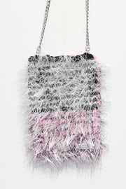 Fur shoulder chain bag