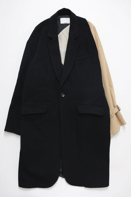 Asymmetry Single Breasted Chesterfield Coat