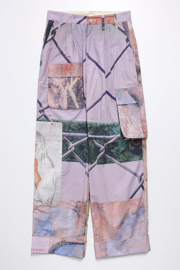 Graphic wide pants