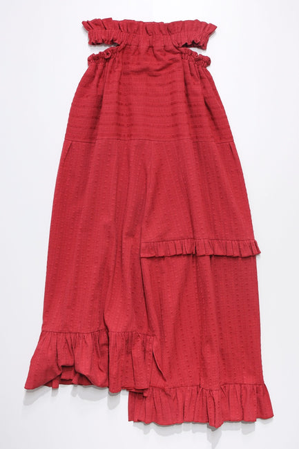 Windy skirt -red-