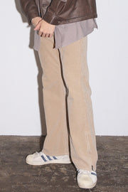 7W CORDUROY BIO WASHED BOOTCUT PANTS