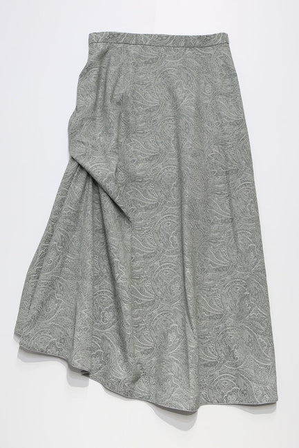 linen like asymmetric skirt