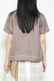 front layered blouse
