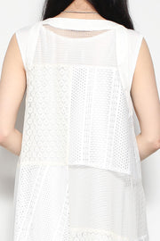 see through patchwork dress
