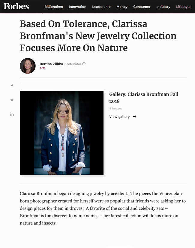 Forbes - Clarissa Bronfman's New Collection