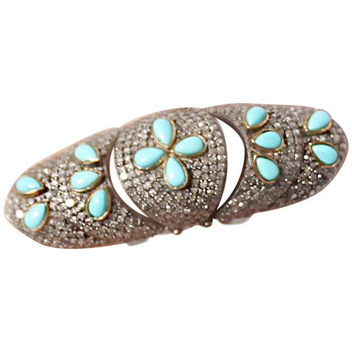 Turquoise Diamond Gladiator Ring