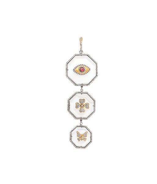 3 Tier Crystal Ruby Pendant