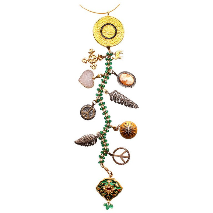 'Nefertiti' Symbol Tree Necklace