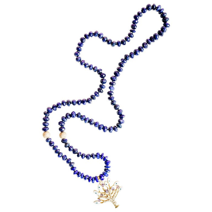 Lapis Tree of Life Beaded Necklace