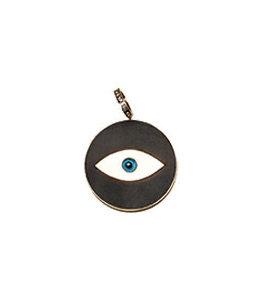 Ebony Evil Eye Pendant Large Diamond Lock