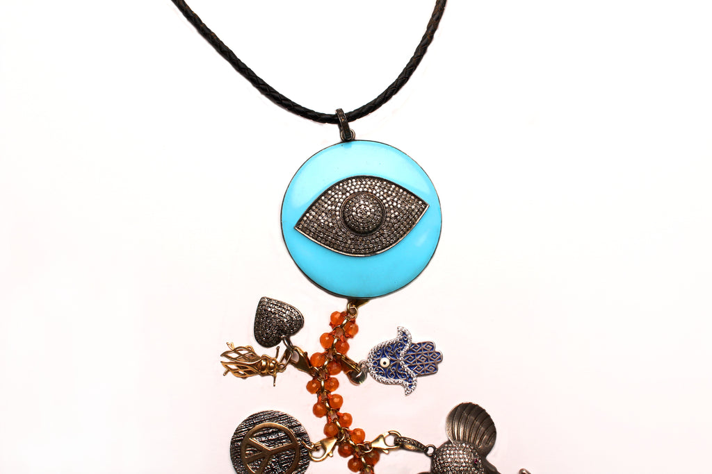 'Blue Moon' Symbol Tree Necklace