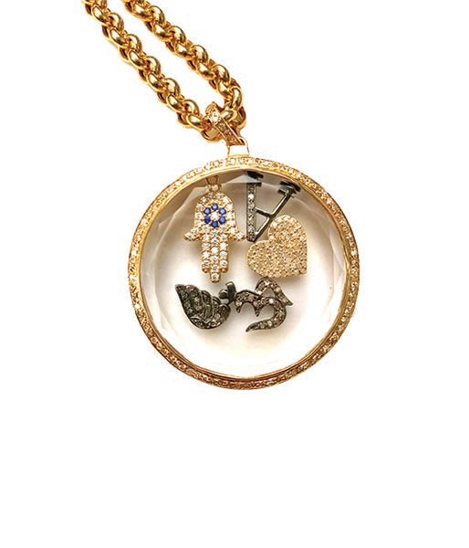 Gold Love Shaker Pendant