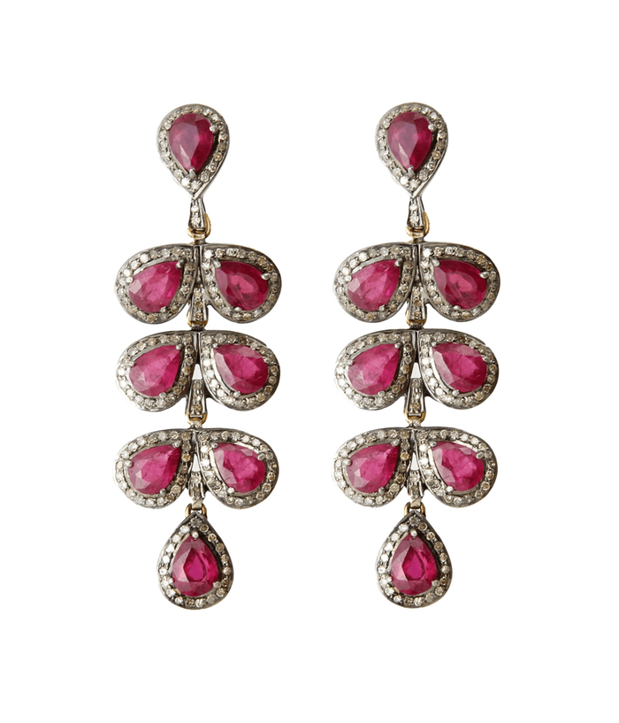 Ruby Statement Earrings