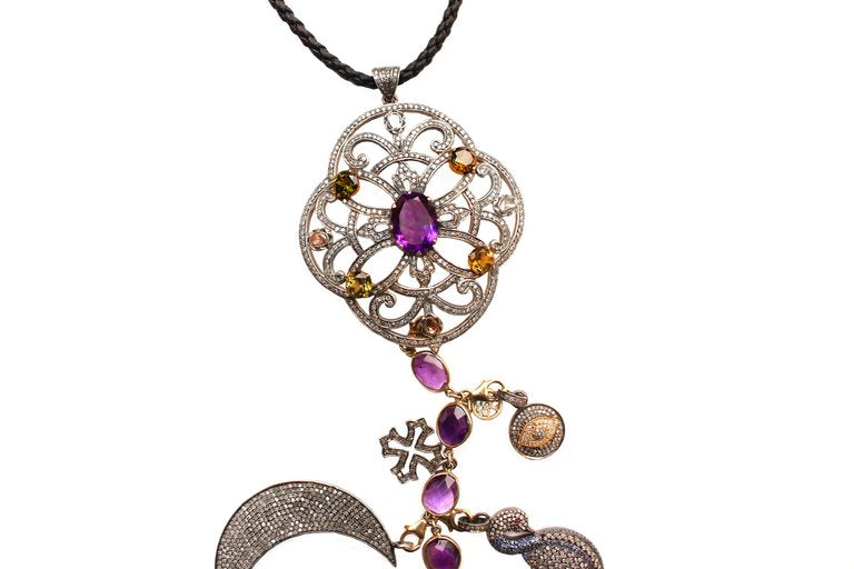 'Amethyst' Symbol Tree Necklace