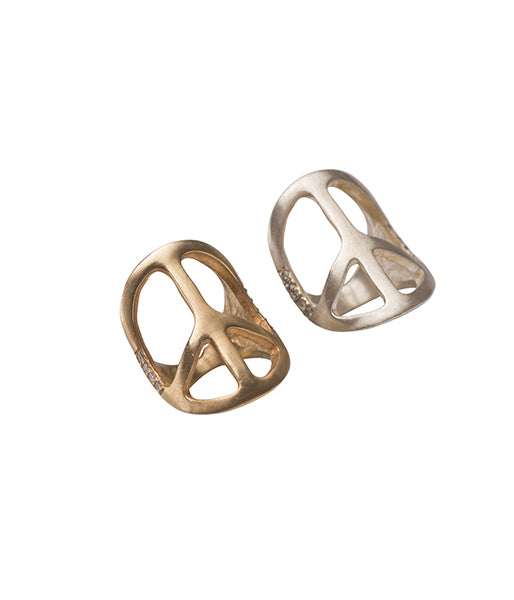 Gold Plated Peace Ring