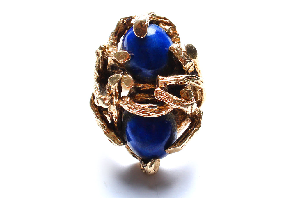 14 Karat Gold, Lapis Ring