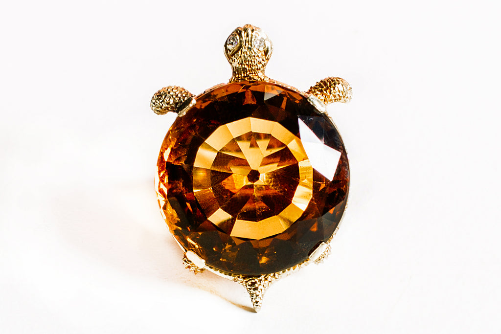 Topaz Turtle Ring