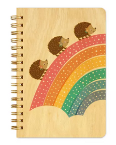 Wooden Cover Pocket Sized Journal by Night Owl Paper Goods ....  Jotter Unicorn Hedgehog Notebook