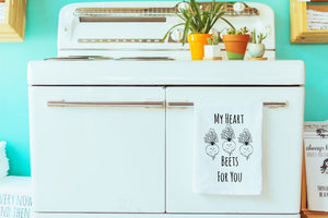 My Heart Beets For You Flour Sack Towel- MoonlightMakers - The Local Variety