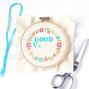 Good Vibes Only DIY Cross Stitch Kit - The Local Variety