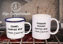 I Llike Coffee and You Llama Enamelware camping mug retro cup - The Local Variety