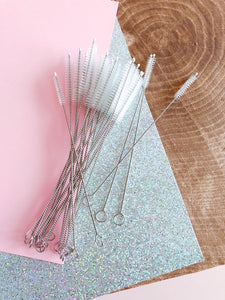 Straw Accessories: Straw Cleaning Brush and Vinyl Carrying Pouch Reusable - The Local Variety
