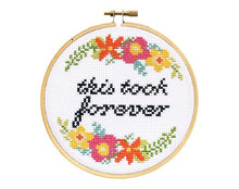 This Took Forever DIY Cross Stitch Kit - The Local Variety