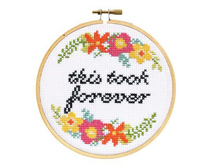 This Took Forever DIY Cross Stitch Kit