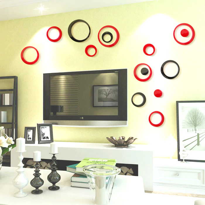 ECO-FRIENDLY 3D STEREO LIGHT CIRCLE WALL STICKER PVC MATERIAL LOVE WALL STICKERS