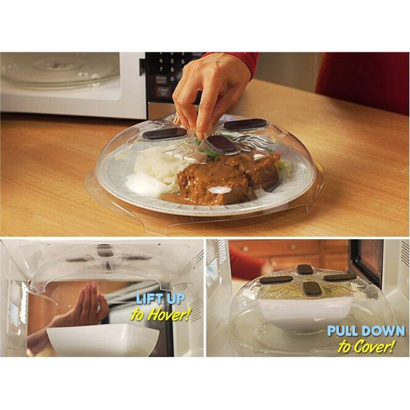 Microwave Hover Cover Kitchen Anti-sputtering Cover Food Safety Splatter Guard Oven Oil Cap Cover