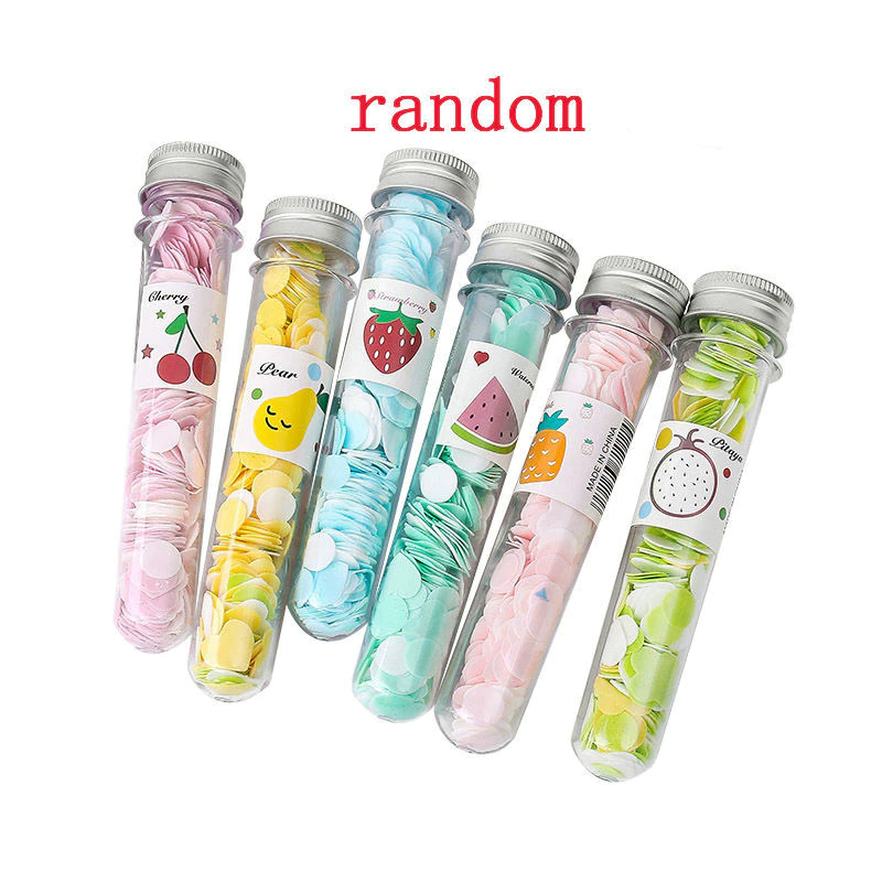 Portable Mini Body Washing Bath Test Tube Confetti Foaming Flower One Time Paper Soap Slice