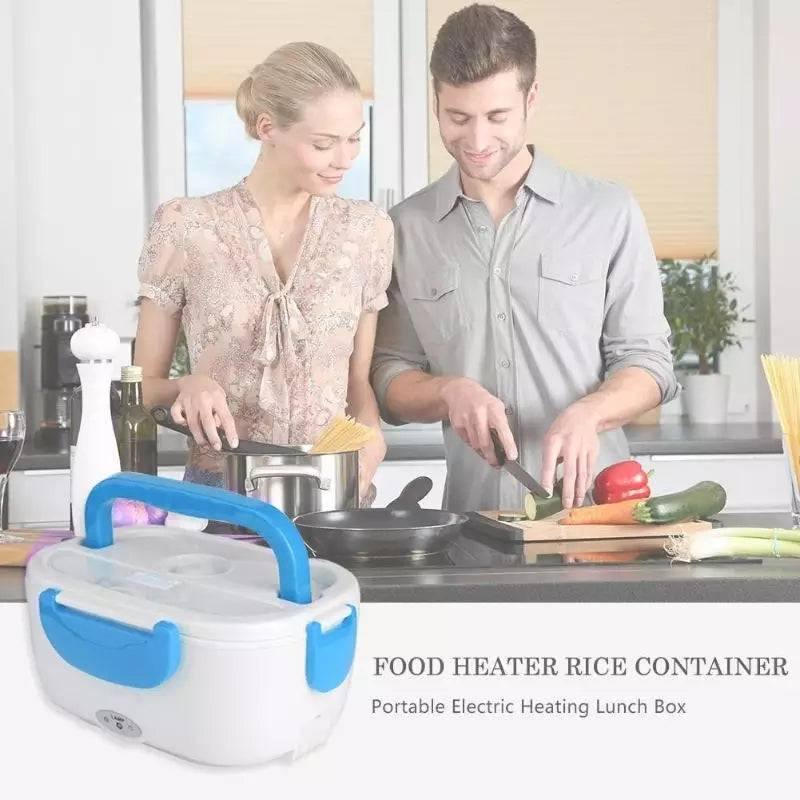 Electric Lunch Box with Spoon Portable Electric Heating Lunch Box Food Heater Rice Container for Office Car Electric Lunch Box - ShopnHob (3594546118736)