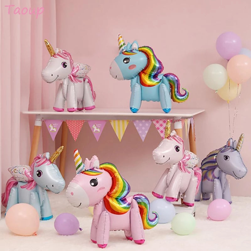 1pcs Unicorn Foil Birthday Balloon