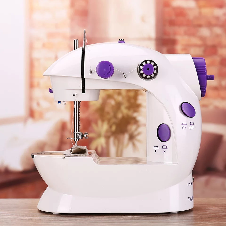 Multifunction Electric Mini Sewing Machine Motor Household Desktop With Built-in Sewing Light   Foot Pedal Sewing Parts Machines
