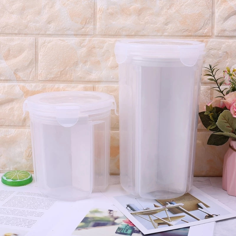 Kitchen Food Cereal Grain Bean Rice Plastic Storage Tanks Container Box Crisper
