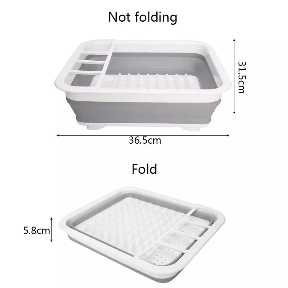 Copy of Silicone Folding Dish Rack Home Kitchen Organizers Storage Shelf Plate Dish Drainer Bowl Cup Spoon