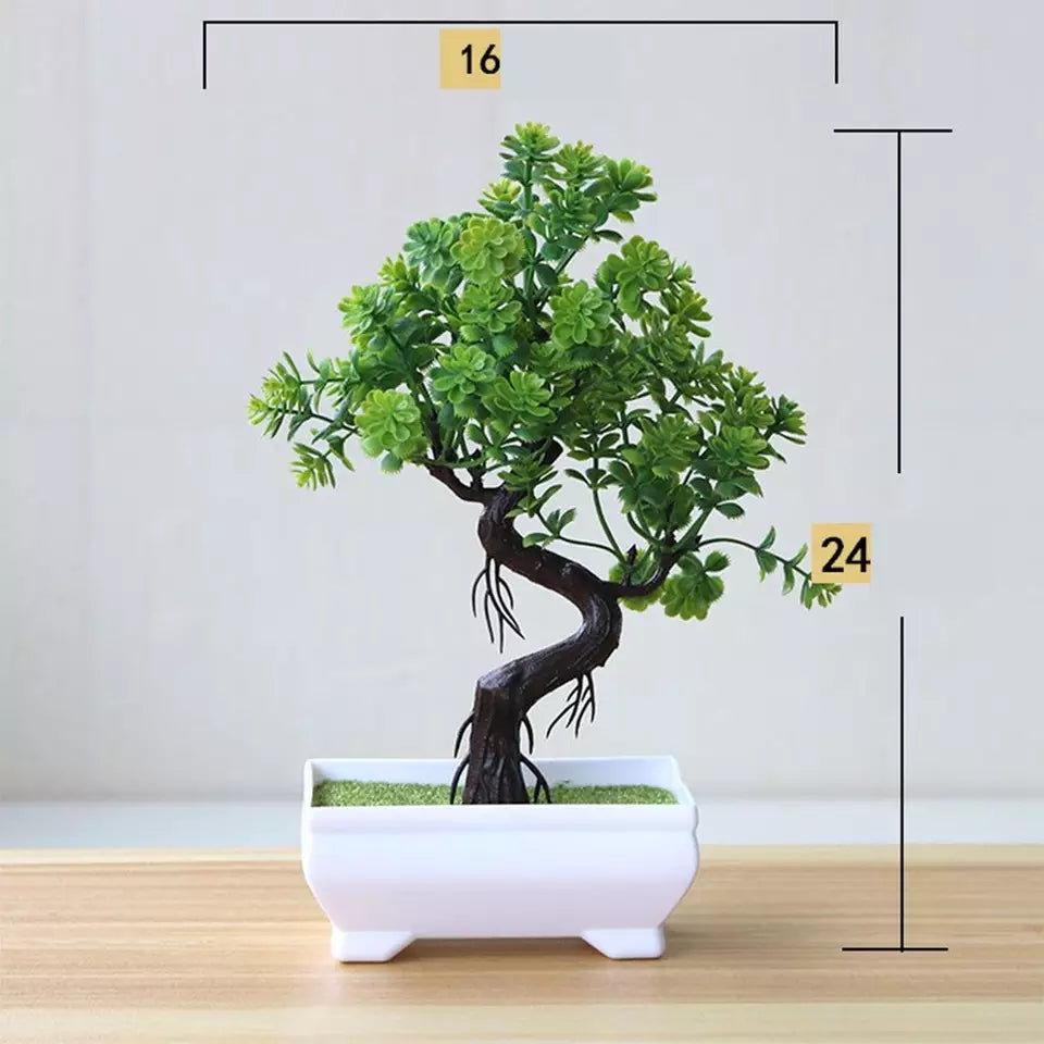 New artificial plant bonsai small tree potted plant fake potted plant decoration home decoration hotel garden decoration - ShopnHob