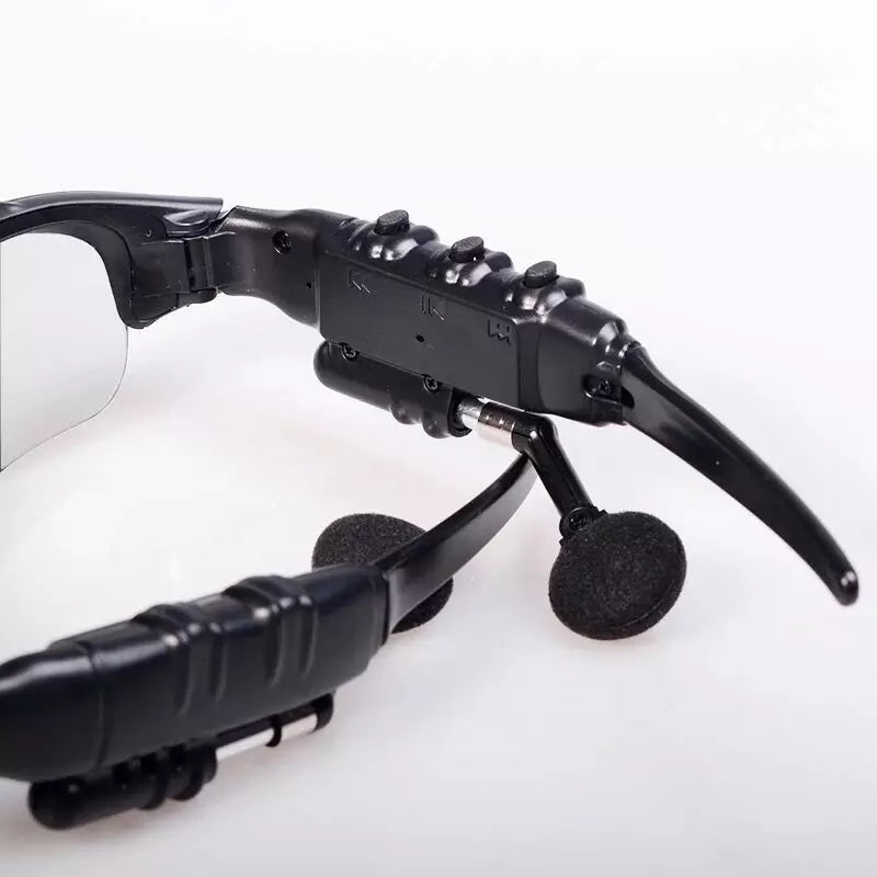 Wireless Bluetooth Sunglasses Headset Earbud Stereo Headphone With Microphone Outdoor Polarized Glass