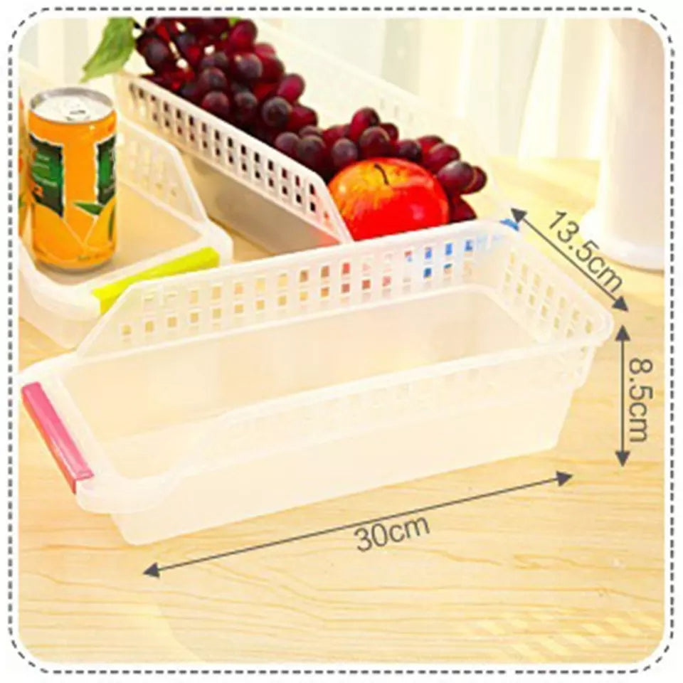 Portable Freezer Refrigerator Organizer Trays Bins Pantry Box  Fridge Fruits Vegetables Containers Storage Baskets