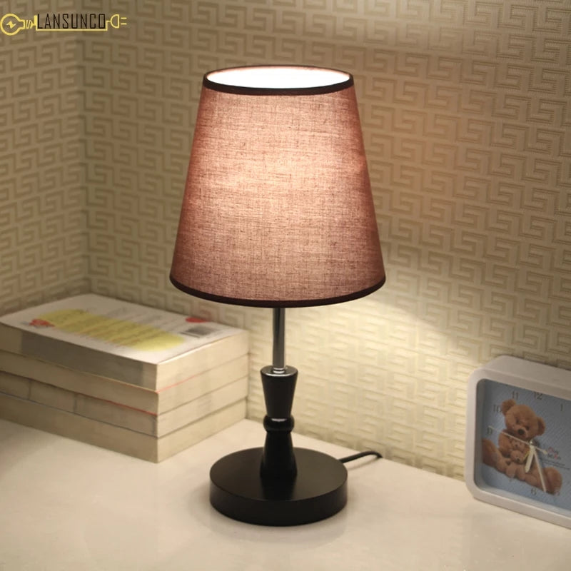 Pair of 2 Table Lamps For Bedroom Vintage Bedside Lamp