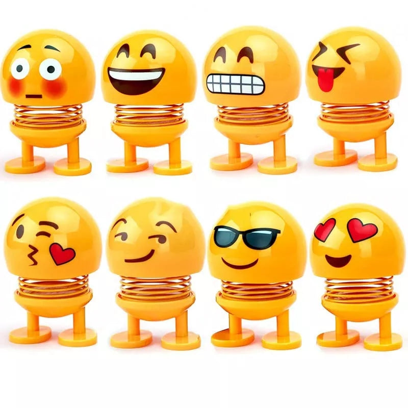 Emoji Figures Shaking Head Doll Car Ornaments - ShopnHob