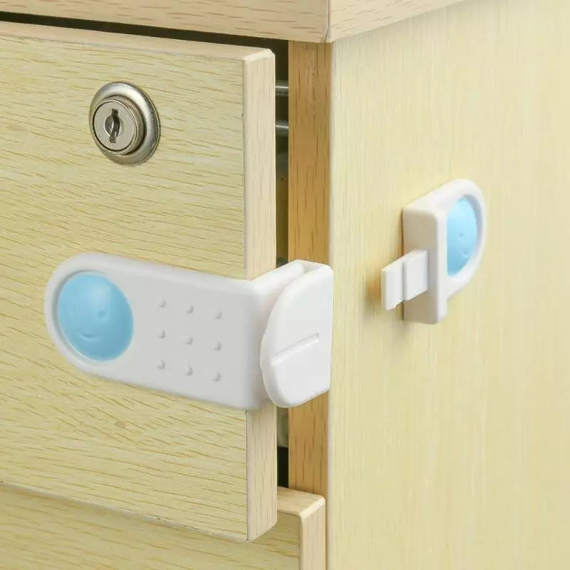 Kids Child Baby Lock Cabinet Door Fridge Drawer Cupboard Toilet Safety Lock - ShopnHob