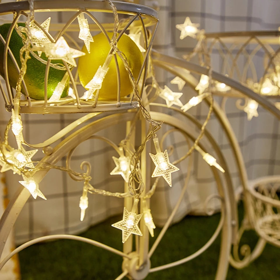 Star String Fairy Lights - ShopnHob (3552893632592)